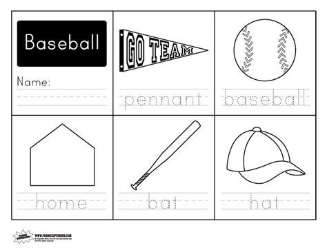 baseball handwriting free worksheet paging supermom