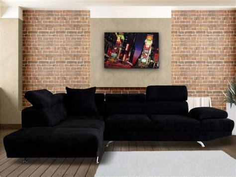 vente unique canape canapé d 39 angle xl en tissu noir ou beige