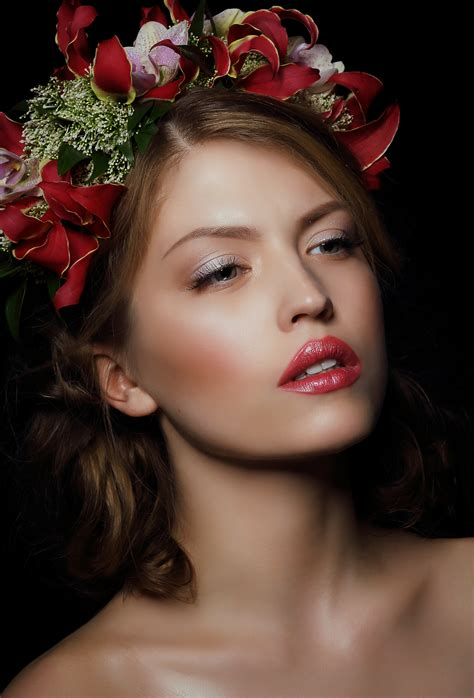 images man person people girl woman hair flower floral aroma bouquet rose
