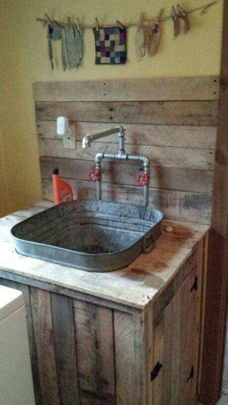 laundry sink rustic house laundry room