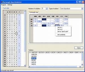 Karnaugh Calculator Online