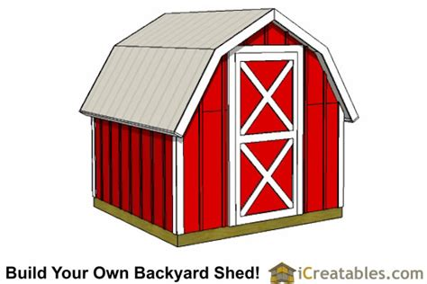 Gambrel Shed Plans 8x8 by 8x8 Storage Shed Plans Easy To Build Designs How To