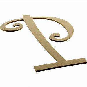 14quot decorative wooden curly letter p ab2160 With wooden letter p