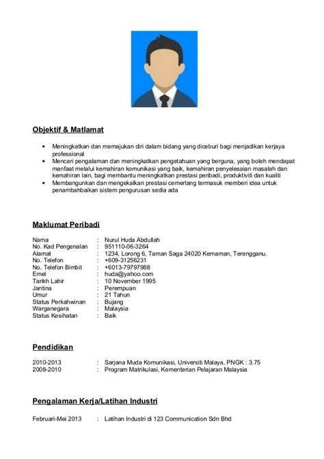 contoh resume format  hafiz pinterest resume format