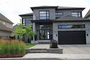 amenagement paysager d39une facade de maison moderne With amenagement jardin facade maison