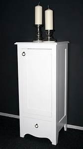Kommode Massiv Weiß : massivholz kommode w scheschrank badschrank schmal massiv wei lackiert ~ Watch28wear.com Haus und Dekorationen