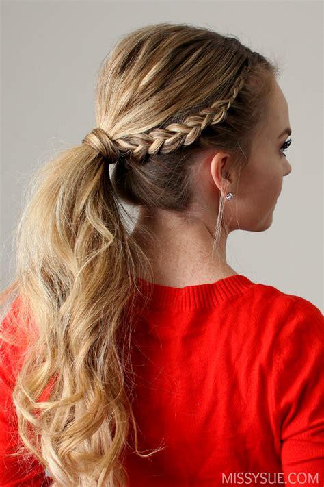 Dutch Lace Braid Ponytail