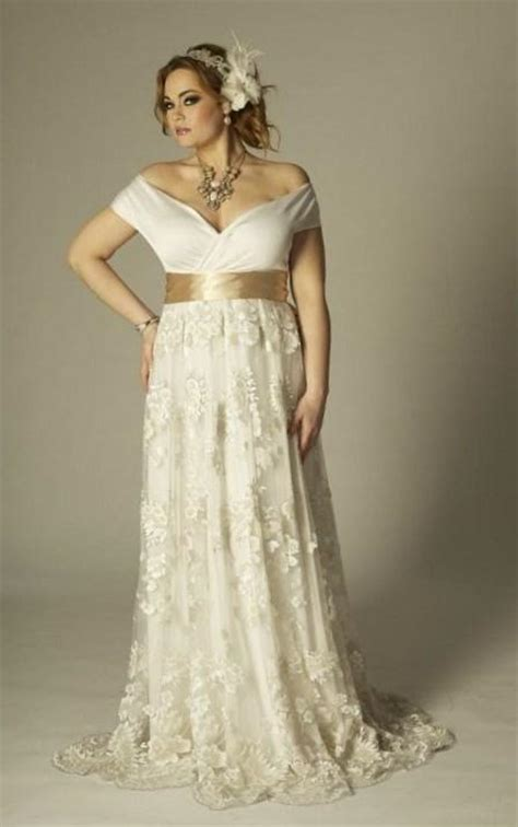 boho wedding ring empire waist plus size wedding dresses pluslook eu