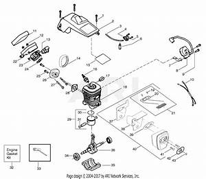 Poulan Ppb1634le Gas Saw Parts Diagram For Engine Assembly