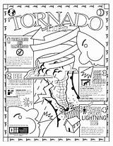 Tornado Coloring Pages Weather Storm Realistic Colour Drawing Printable Warning Disaster Natural Template Getdrawings Severe Sketch Getcolorings Crafts sketch template