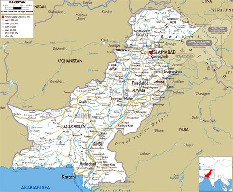 large road map  pakistan  cities  airports