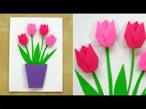 basteln mit papier blumen basteln mit papier blumen diy geschenk gl 252 ckwunschkarte selber machen geschenkideen