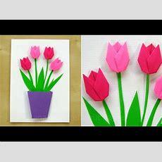 Basteln Mit Papier Blumen Diy Geschenk Glückwunschkarte