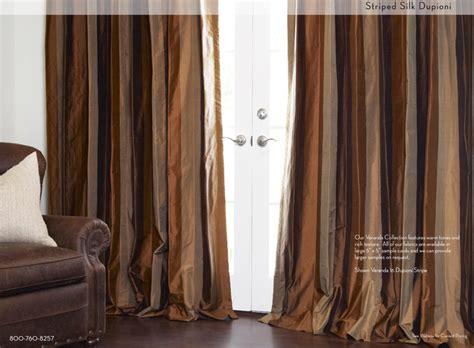 Striped Silk Dupioni Drapery In Veranda 16 Curtains Rails Ceiling Georgia Bulldog Ohio State Buckeyes Shower Curtain Voile Track Modern For Kitchen Rods Short Fabrics Online Uk Blue And Cream Striped