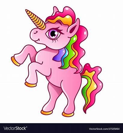 Unicorn Cartoon Isolated Vector