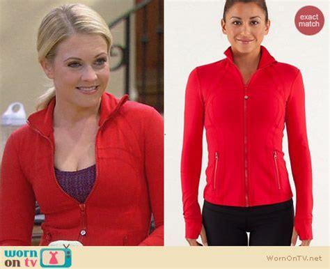wornontv mels red track jacket  melissa  joey