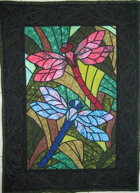 dragonfly stained glass dragonflies