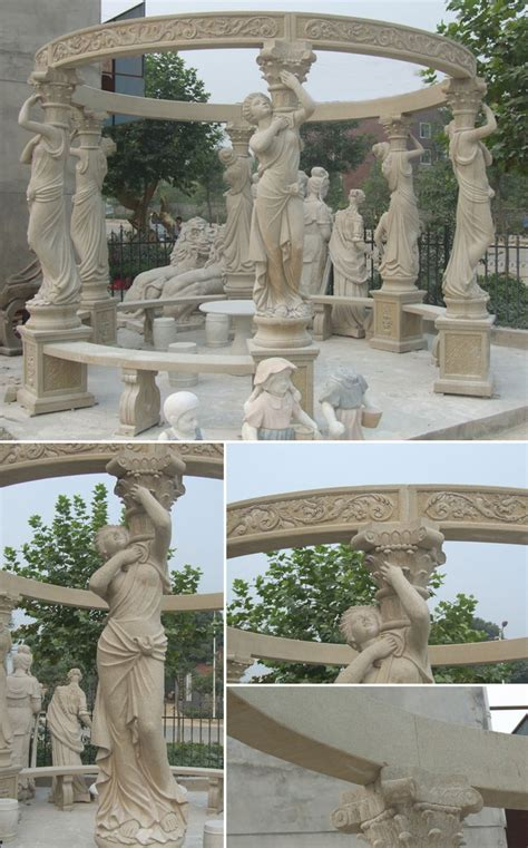 wedding ceremony decorations for sale home depot high quality outdoor beige marble pavilion gazebo designs for wedding