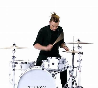 Drummer 1975 George Daniel Band Gifs Giphy