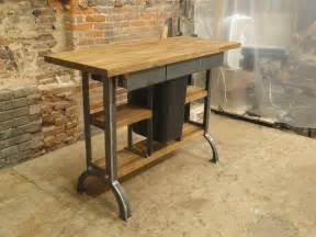 industrial style kitchen island made modern industrial kitchen island console table by cosironworks custommade