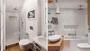 quelles couleurs pour une petite salle de bains With salle de bain blanche et bois