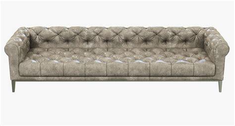 Divano Chesterfield 3ds Max : Restoration Hardware Italia Chesterfield Leather Sofa 3d