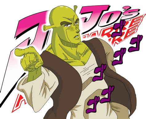 anime characters fight jojo shrek s adventure jojo s adventure