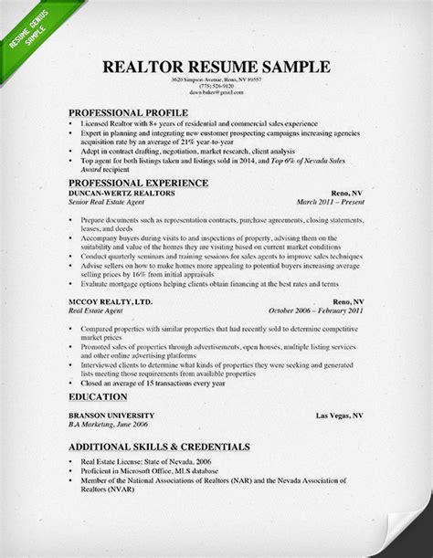 Realtor Resume Sle by Real Estate Resume Writing Guide Resume Genius
