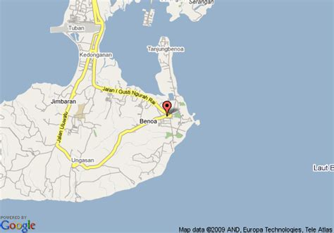 map  conrad bali resort  spa benoa