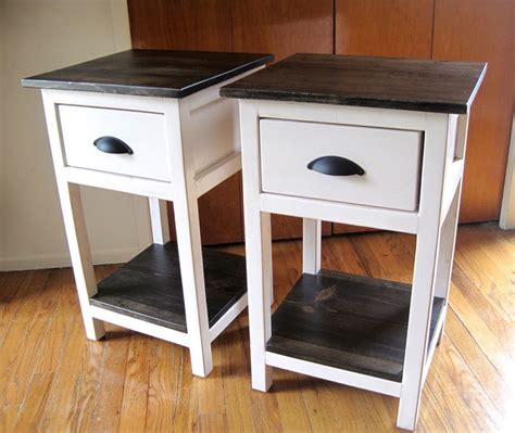 Plans For Nightstand by White Mini Farmhouse Bedside Table Plans Diy Projects