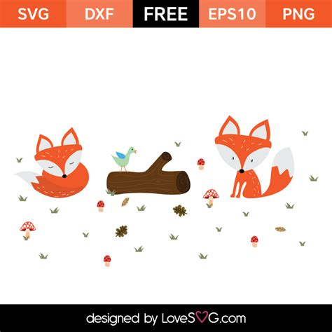 Well you're in luck, because here they come. Little Foxes | Lovesvg.com
