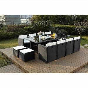 Table De Jardin Tressé : salon de jardin en resine tresse encastrable achat ~ Dailycaller-alerts.com Idées de Décoration