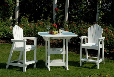 patio furniture bar height chairs adirondack american