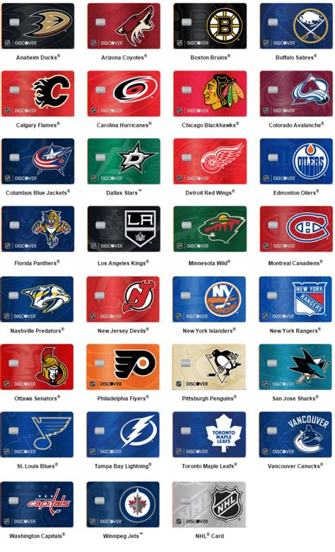 discover credit card designs new discover it nhl credit cards our review doctor of
