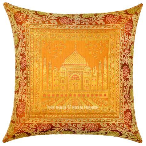 gold color decorative boho accent tajmahal silk throw