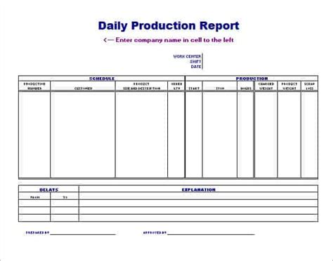 production scheduling templates word excel formats
