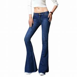 2017 new Flared jeans women flare retro style bell bottom ...