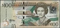 Ebanknoteshop. East Caribbean States,P55b,B239b,100 ...