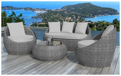 canape exterieur haut de gamme salon en résine zaniah le charme au jardin piscine