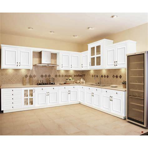 cuisine en blanc blanc armoires de cuisine en bois massif meubles armoire