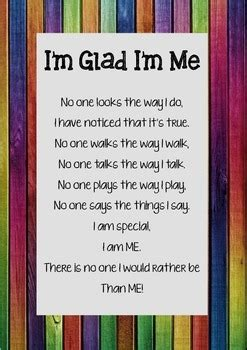 im glad im  poem poster  thinking tree resources tpt