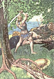 Perseus slaying Medusa - /religion_mythology/Greek/Perseus ...