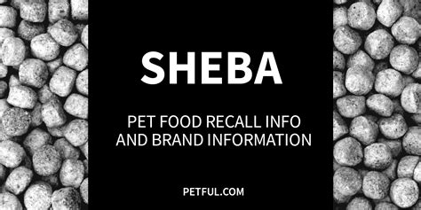 sheba cat food recall history