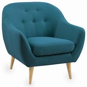 Fauteuil Bleu Pétrole : fauteuil scandinave capitonn cirrus couleur bleu p trole scandinave fauteuil par ~ Teatrodelosmanantiales.com Idées de Décoration