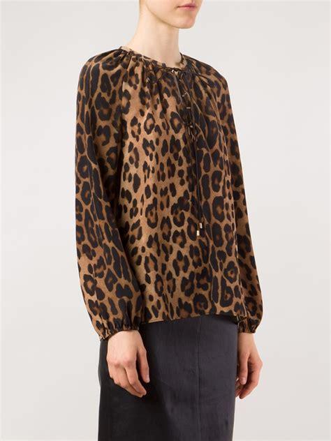 leopard print blouses brown leopard print blouse silk blouses