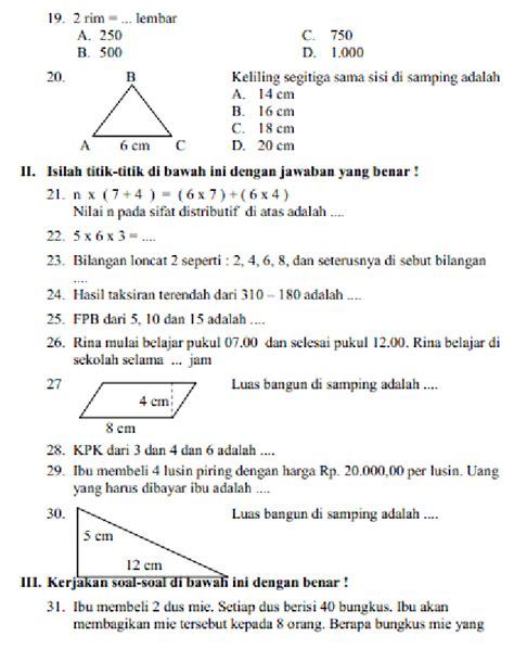 Soal ukk matematika kelas 4 by merah putih commu. Soal Un Sd 2018 Dan Kunci Jawaban | Soal Revisi