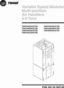 Trane Tam7a0b30h21sb Users Manual 22 1847 02 03  01  2012