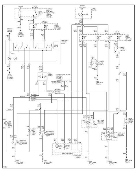 wiring diagram   jetta hazard switch
