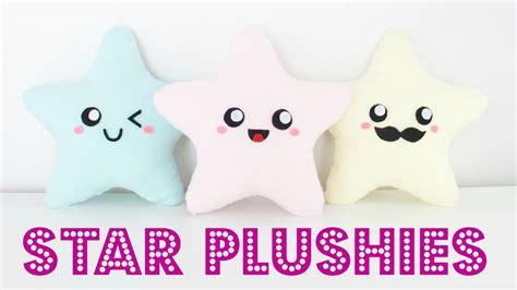 diy easy kawaii star plush pillows easy room decor