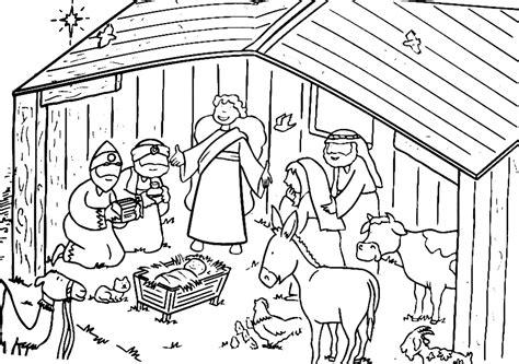 Jezus In In De Kribbe Kleurplaat by Kerstverhaal Kleurplaten Kleurplatenpagina Nl